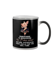 Parenthood Is Whispering Mom Pig Color Changing Mug thumbnail