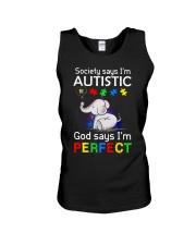 Autism God Say I Am Perfect Unisex Tank thumbnail