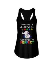 Autism God Say I Am Perfect Ladies Flowy Tank thumbnail