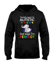 Autism God Say I Am Perfect Hooded Sweatshirt thumbnail