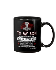 Viking Daddy Loves You Son Dad Mug front