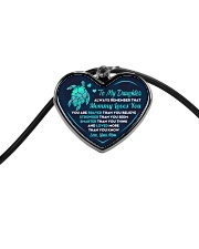Turtle Mommy Loves You Daughter Cord Heart Necklace thumbnail