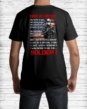 Soldier Shirt: Make No Mistake Classic T-Shirt lifestyle-mens-crewneck-back-1