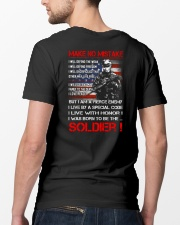 Soldier Shirt: Make No Mistake Classic T-Shirt lifestyle-mens-crewneck-back-5