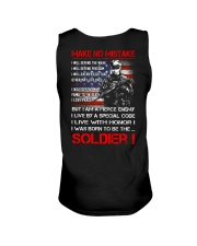 Soldier Shirt: Make No Mistake Unisex Tank thumbnail