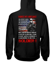 Soldier Shirt: Make No Mistake Hooded Sweatshirt thumbnail