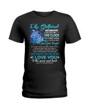 Turtle Girlfriend Clock Ability Moon Ladies T-Shirt thumbnail