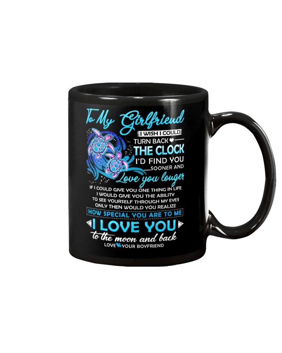 Turtle Girlfriend Clock Ability Moon Mug