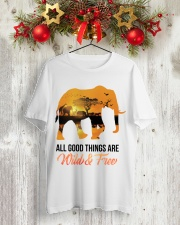 Elephant All Good Things Are Wild Classic T-Shirt lifestyle-holiday-crewneck-front-2
