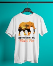 Elephant All Good Things Are Wild Classic T-Shirt lifestyle-mens-crewneck-front-3