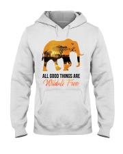 Elephant All Good Things Are Wild Hooded Sweatshirt thumbnail