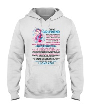 Unicorn Girlfriend Lucky To Live Amazing Life Hooded Sweatshirt thumbnail