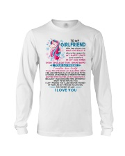 Unicorn Girlfriend Lucky To Live Amazing Life Long Sleeve Tee thumbnail