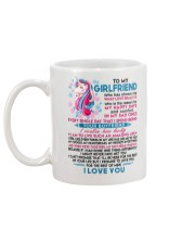 Unicorn Girlfriend Lucky To Live Amazing Life Mug back
