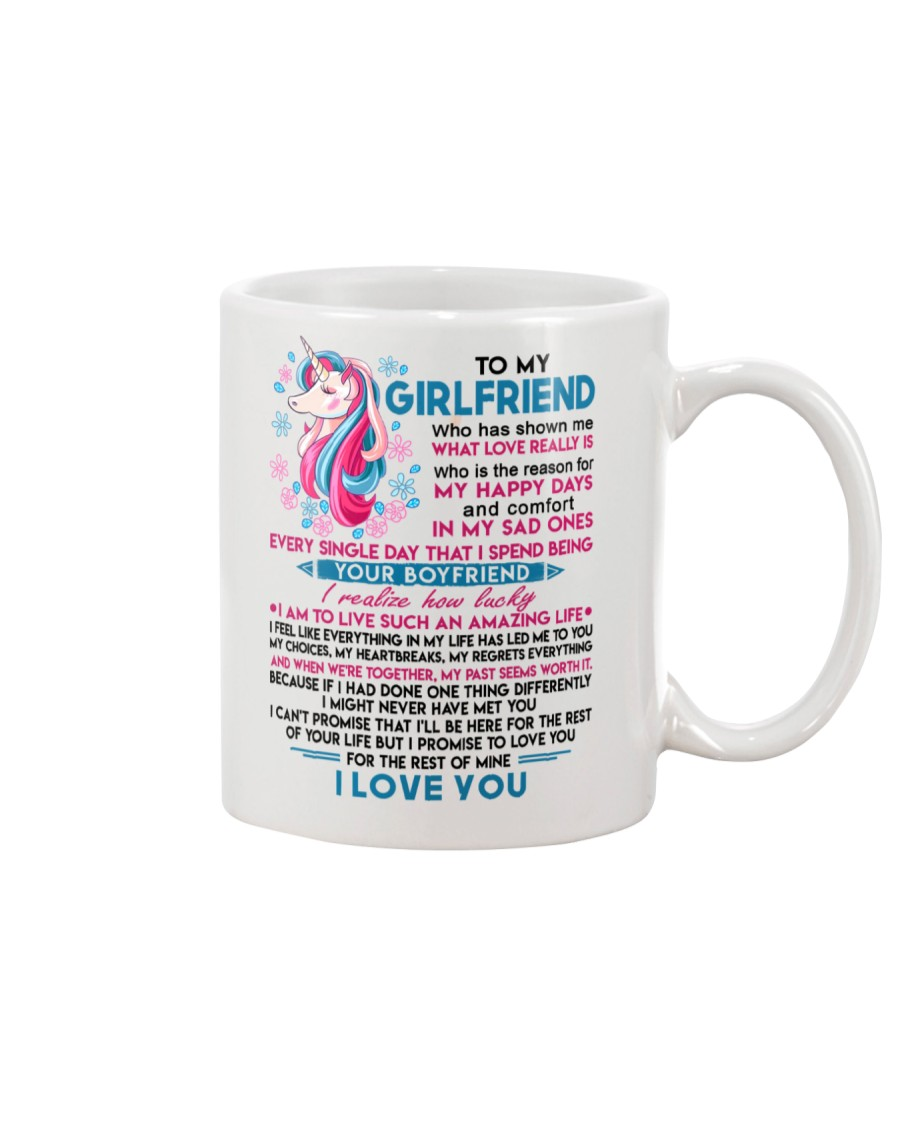Unicorn Girlfriend Lucky To Live Amazing Life Mug
