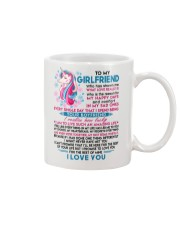 Unicorn Girlfriend Lucky To Live Amazing Life Mug front