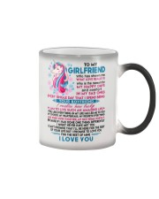 Unicorn Girlfriend Lucky To Live Amazing Life Color Changing Mug thumbnail