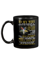 Freemason Wife Ups And Downs Love Mug back