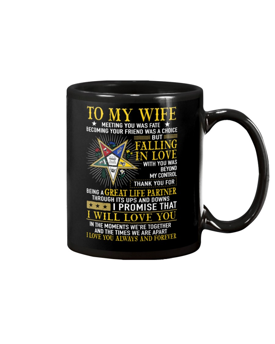Freemason Wife Ups And Downs Love Mug