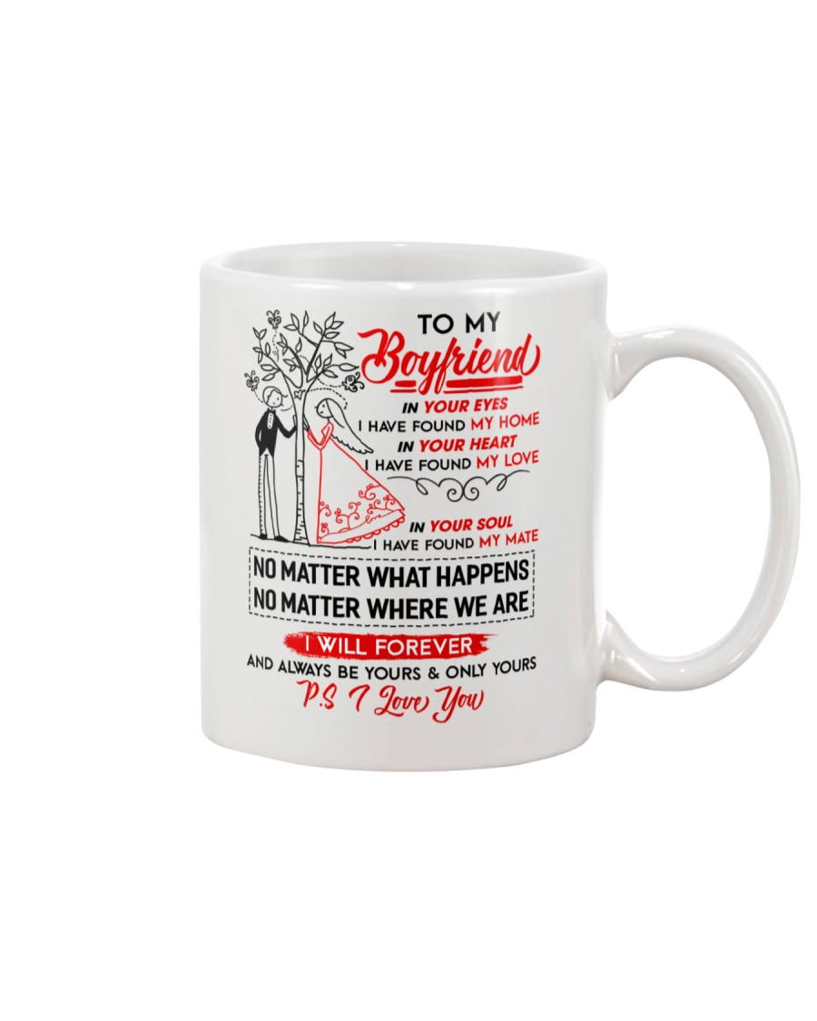 Family Boyfriend In Your Eyes I Have Found My Home Mug