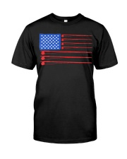 Fishing American flag shirt Classic T-Shirt front