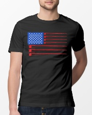 Fishing American flag shirt Classic T-Shirt lifestyle-mens-crewneck-front-13