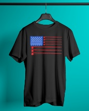 Fishing American flag shirt Classic T-Shirt lifestyle-mens-crewneck-front-3