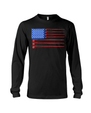 Fishing American flag shirt Long Sleeve Tee thumbnail