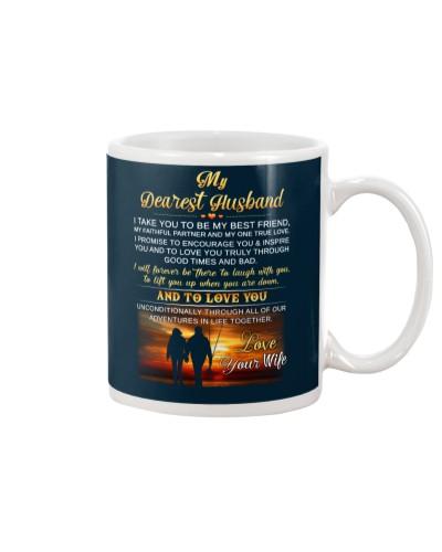 Faithful Partner True Love Husband Fishing Mug