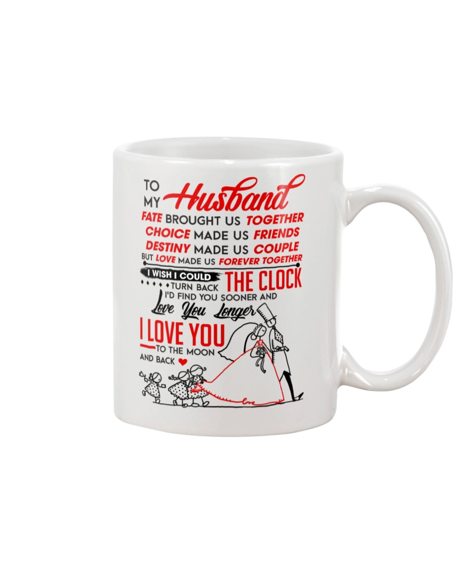 Family Husband Destiny Clock Moon Mug