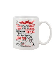 Family Husband Destiny Clock Moon Mug front