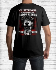 Wolf Dad's little girl Issues Classic T-Shirt lifestyle-mens-crewneck-back-1