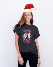 Unicorn Sister By Heart Classic T-Shirt lifestyle-holiday-crewneck-front-1