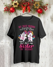 Unicorn Sister By Heart Classic T-Shirt lifestyle-holiday-crewneck-front-2
