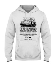 Hiking Dear Husband Hooded Sweatshirt thumbnail