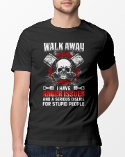Mechanic Shirt: Walk Away I Have Anger Issues Classic T-Shirt lifestyle-mens-crewneck-front-13