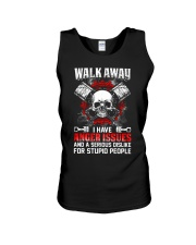 Mechanic Shirt: Walk Away I Have Anger Issues Unisex Tank thumbnail