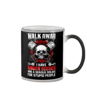 Mechanic Shirt: Walk Away I Have Anger Issues Color Changing Mug thumbnail