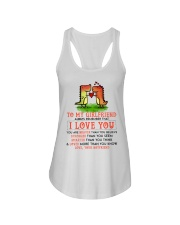 Dinosaur Girlfriend I Love You Ladies Flowy Tank tile