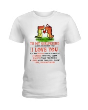 Dinosaur Girlfriend I Love You Ladies T-Shirt tile