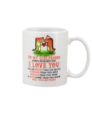 Dinosaur Girlfriend I Love You Mug front