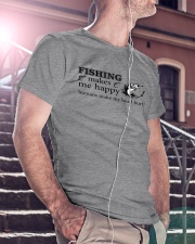 Fishing Makes me happy  Classic T-Shirt lifestyle-mens-crewneck-front-5