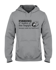 Fishing Makes me happy  Hooded Sweatshirt thumbnail