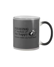 Fishing Makes me happy  Color Changing Mug thumbnail