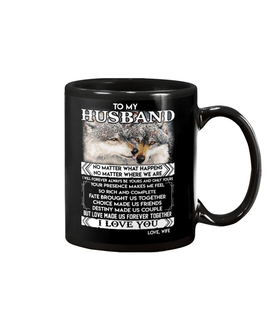 Wolf Husband Love Made Us Forever Together  Mug