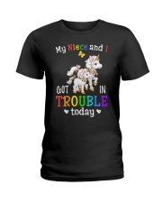 My niece and I got in trouble today Ladies T-Shirt front