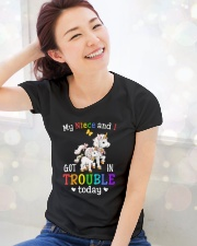 My niece and I got in trouble today Ladies T-Shirt lifestyle-holiday-womenscrewneck-front-1