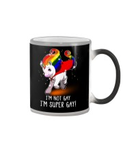 Unicorn Lgbt I Am Super Gay Color Changing Mug thumbnail