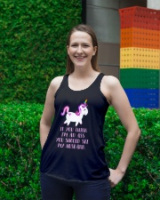 Unicorn You Should See My Husband Ladies Flowy Tank lifestyle-bellaflowy-tank-front-2