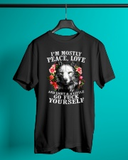 Peace Love Go Yourself Wolf Classic T-Shirt lifestyle-mens-crewneck-front-3